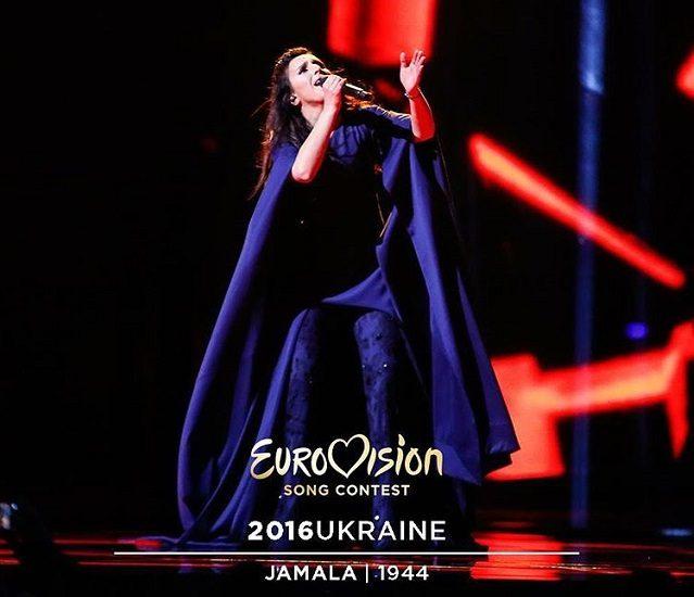 Джамала в синем костюме евровидении 2016