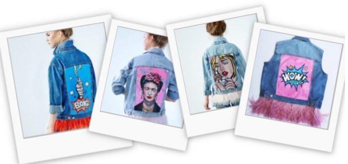 Джинсовая куртка с перьями от бренда Daria y Maria