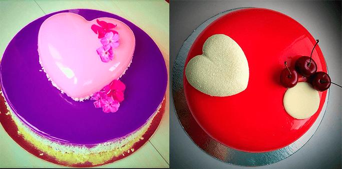2 круглых свадебных торта