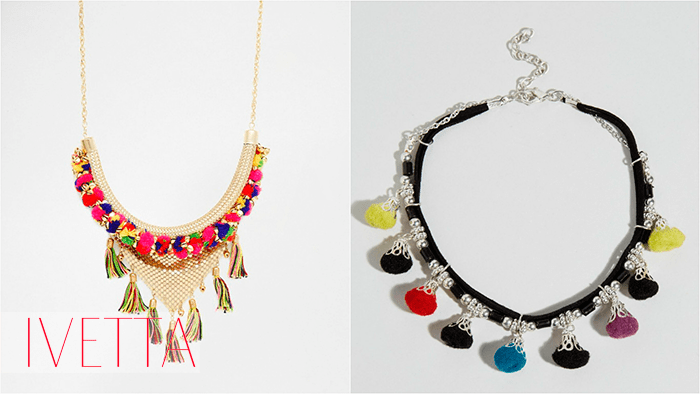 Ожерелье с помпонами