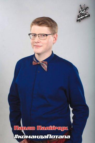 """Суперфиналист """"Голос Країни - 6"""" Павел Палийчук в синей рубашке"""
