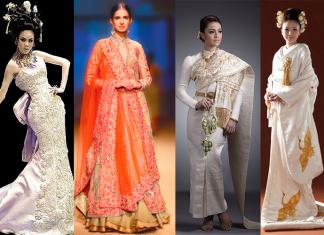 Свадебные платья Китая, Индии, Японии и Таиланда с национальным колоритом
