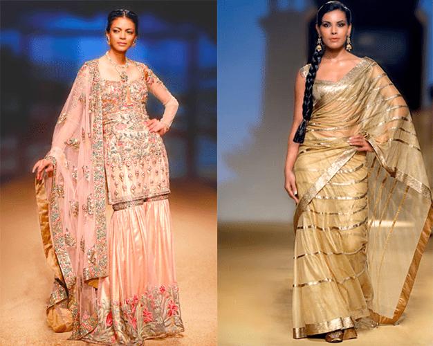 Свадебные платья в индийском стиле в пастельных оттенках