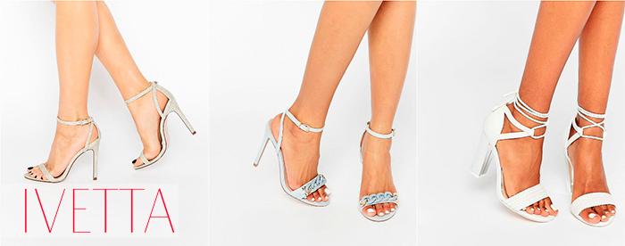Светлые босоножки на женских ножках