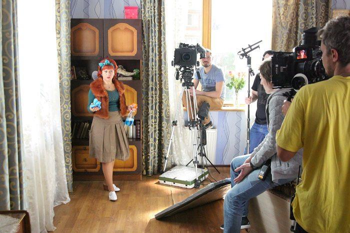 Актриса Татьяна Зиновенко в роли Наталья Богдановна на съемках сериала