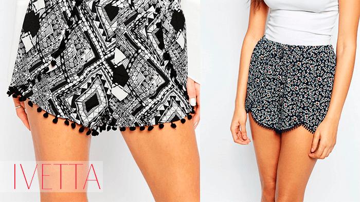 Женские шорты с помпонами