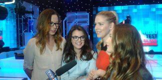 Актрисы сериала «Наші пані у Варшаві» дают интервью