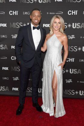 Джулианна Хаф 2016 Мисс США с мужчиной