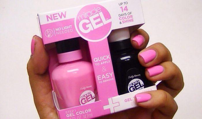 Гель-лак для ногтей:розовый и черный