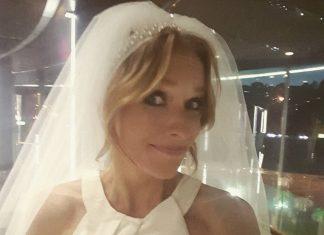Светский хроникер Катя Осадчая в белом платье и в фате