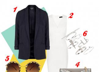 Оденься, как звезда: белое платье футляр Джессики Альбы