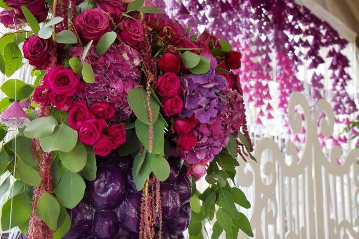 Розовые и фиолетовые цветы