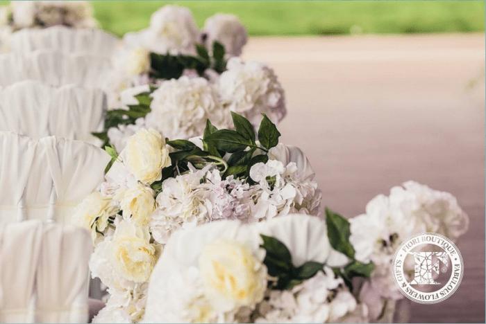 Желтые и белые цветы для свадьбы