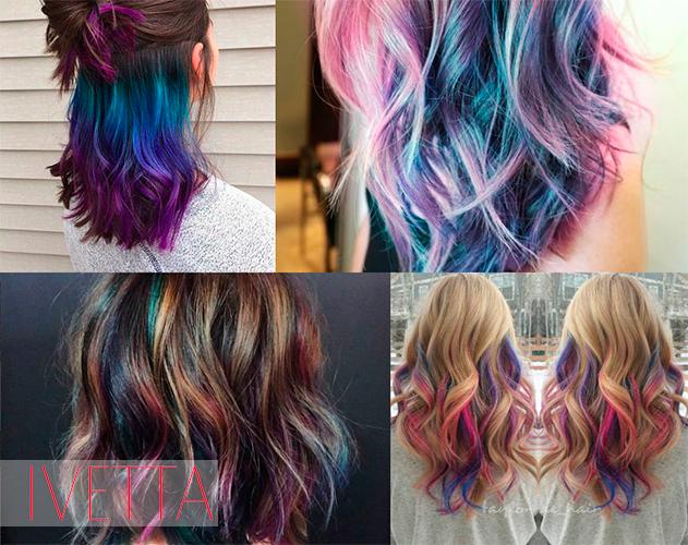 Девушки с цветными яркими волосами