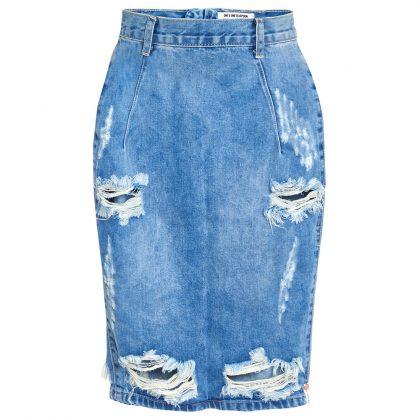 Джинсовая юбка с дырками