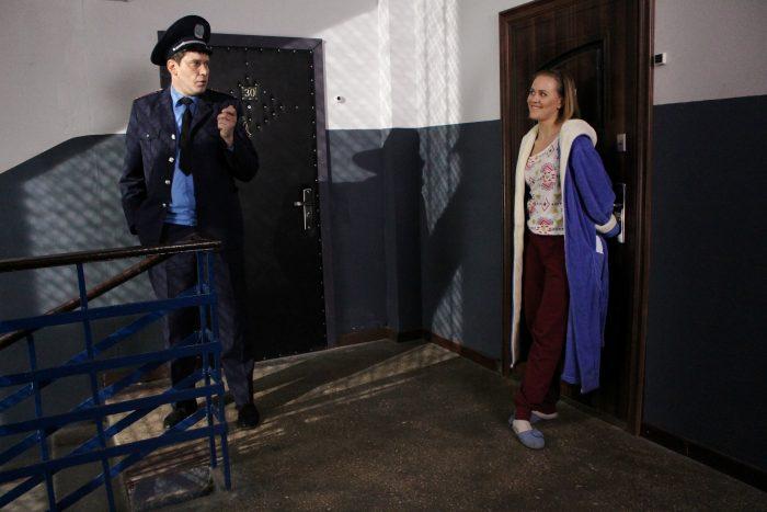 Героиня скетчкома «Коли ми вдома» Екатерина Колесник и Алексей Тритенко