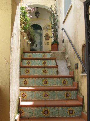 улица острова Капри, Италия