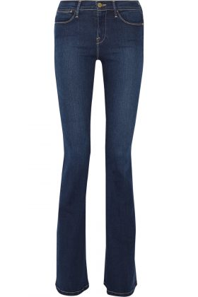 Женские джинсы клешем