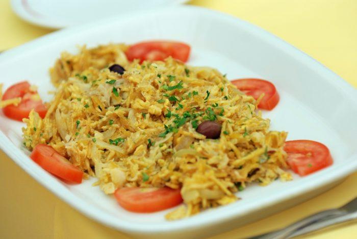 Бакальяу -блюдо из сушеной трески