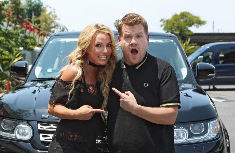 Бритни Спирс споет караоке в машине с Джеймсом Корденом