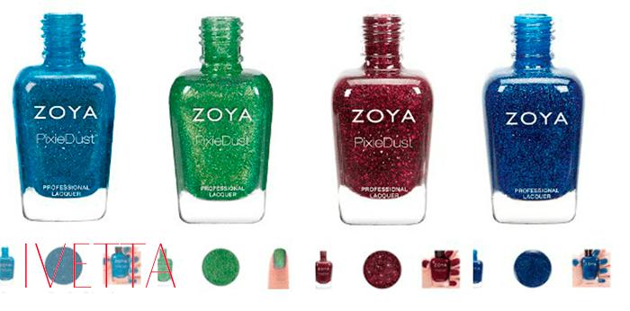 Четыре лака для ногтей zoya