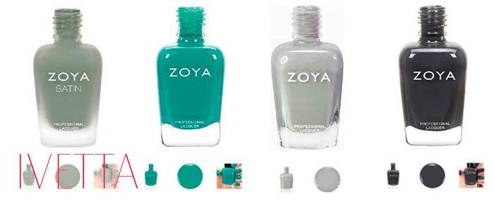 Четыре матовых лака для ногтей zoya