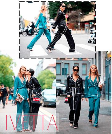 Девушки в пижамных костюмах