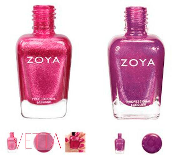 Два розовых лака для ногтейzoya