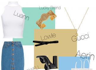 Оденься, как звезда: джинсовая юбка миди Мелиссы Бенойст