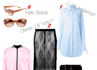 Оденься как звезда: платье-рубашка с кружевной юбкой Дианы Крюгер