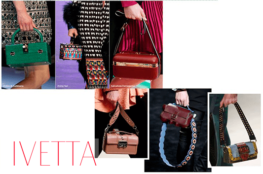 Модные сумки в женских руках