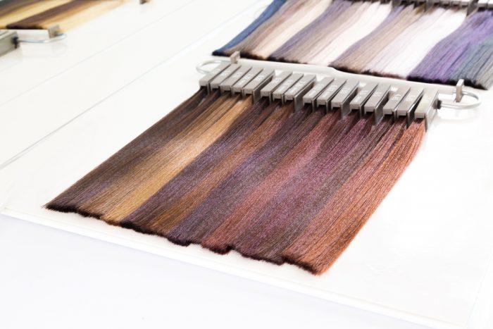 Палетка разных оттенков волос