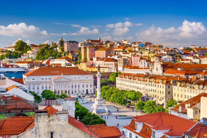 Площадь города Лиссабон, Португалия