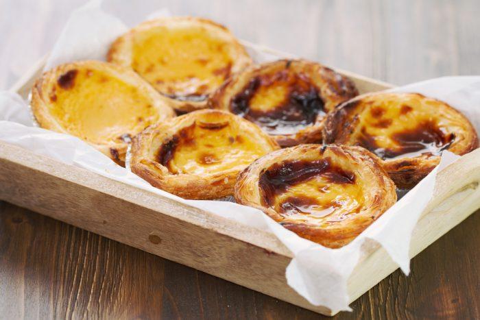 Португальское пирожное - паштейш, в коробке