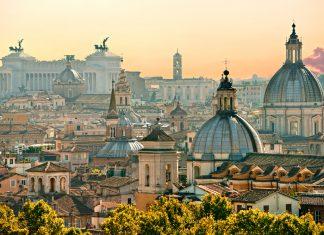 Вид Рима от замка Сант-Анджело, Италия