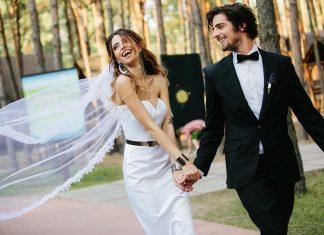 Вова Дантес Надя Дорофеева в свадебных нарядах