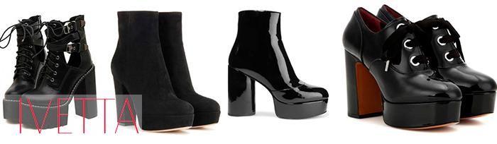 черные женские ботинки