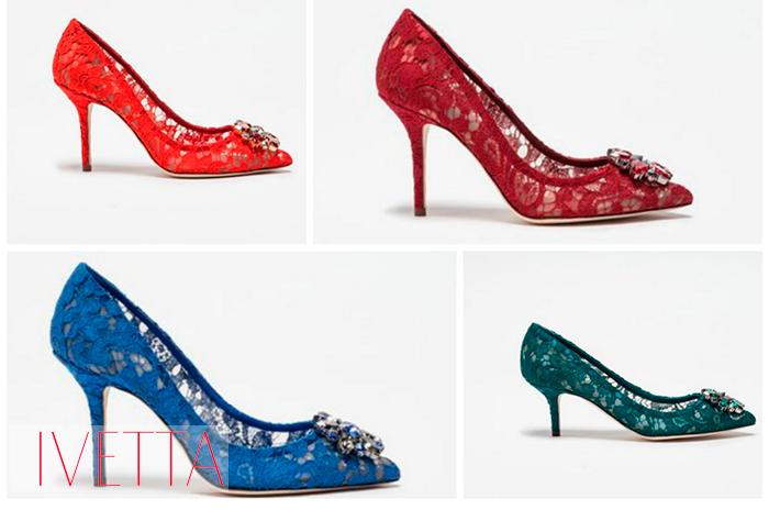 Женские кружевные летние туфли