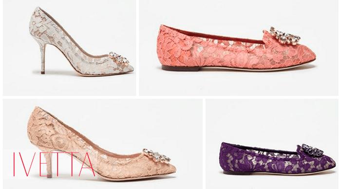 Женские кружевные летние туфли и балетки