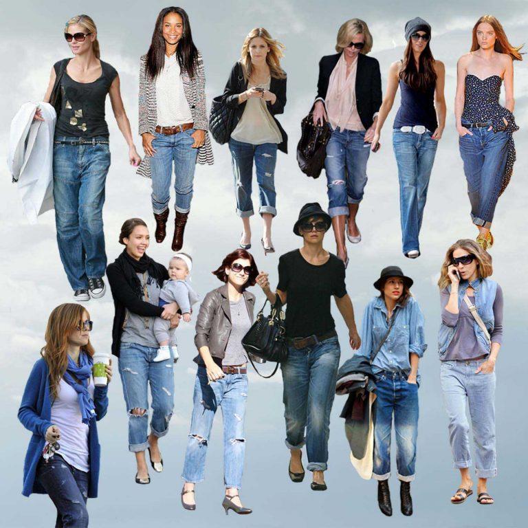 Street style: учимся носить джинсы-бойфренды как западные селебрити