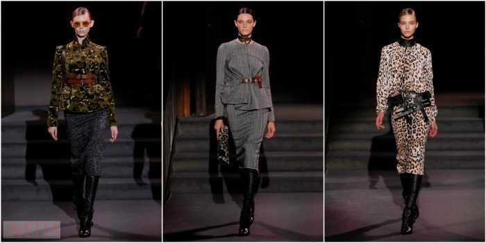 модели показа Tom Ford в пиджаках