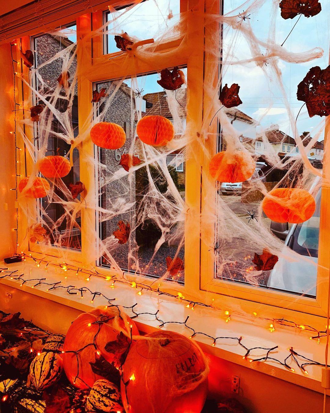 Декор штор на Хэллоуин
