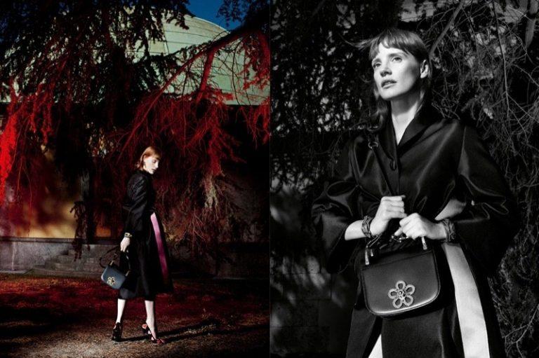 Джессика Честейн в рекламе Prada 2016
