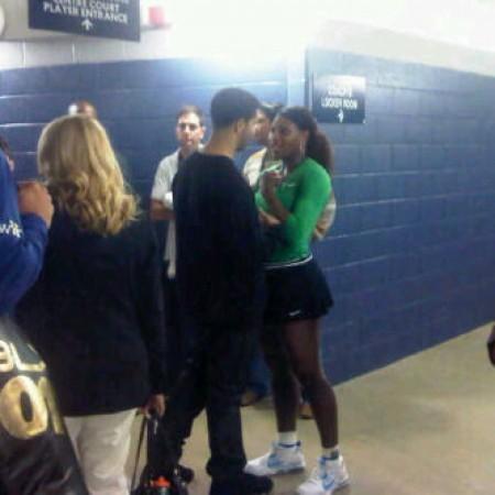 Дейк и Серена Уильямс после теннисного матча
