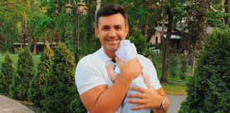 Николай Тищенко с женой покрестили сына