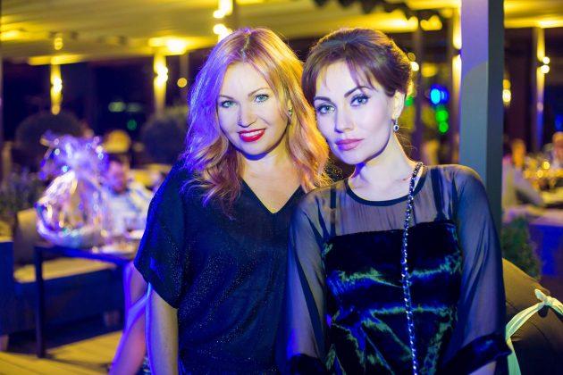 Певица Lilu и Анна Лобарева на презентации клипа BOLSHE