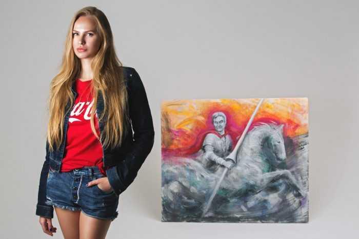 Украинская художница Анна Дианова передала картину Андреа Бочелли