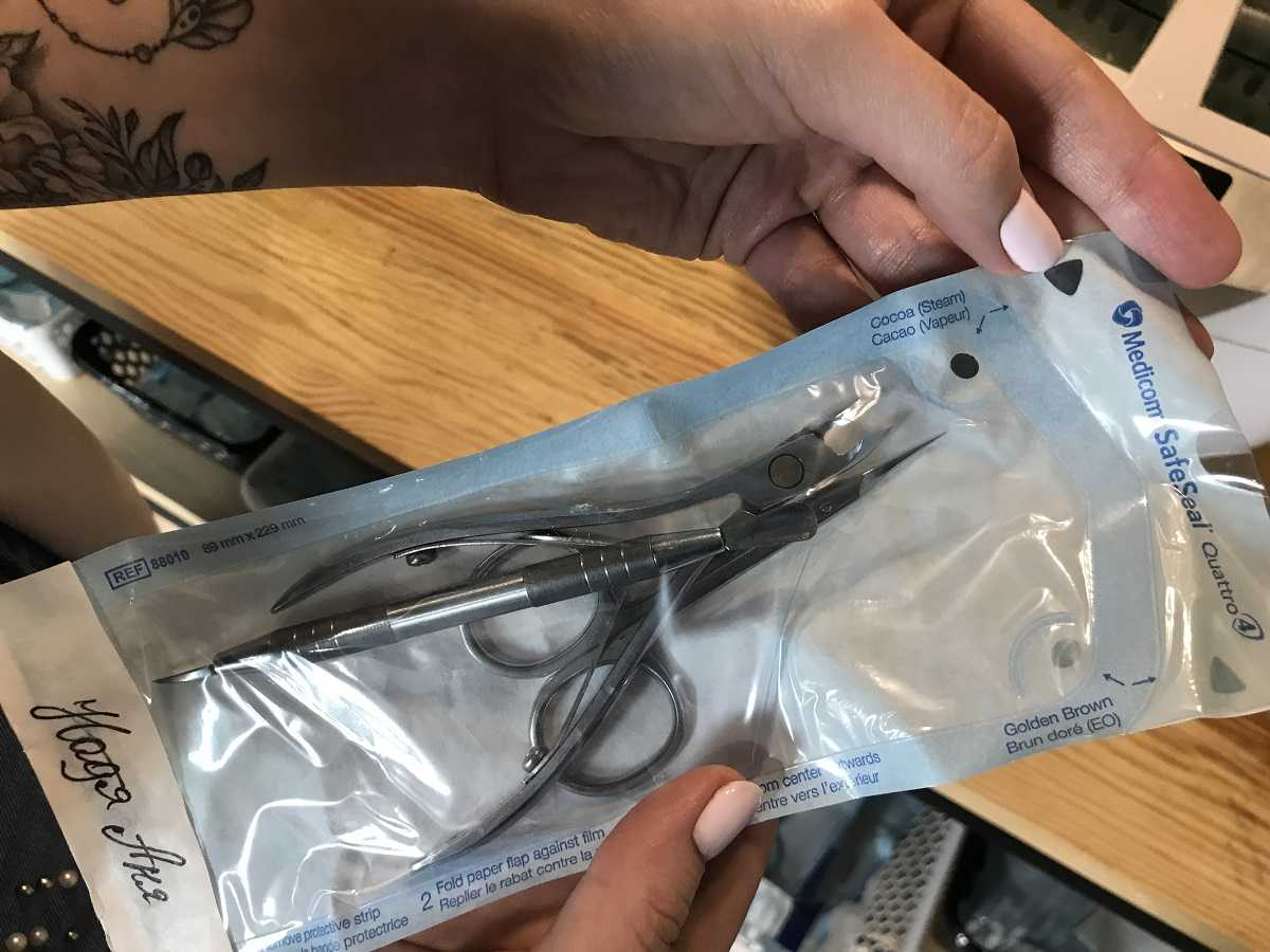 Инструменты в стерильной упаковке
