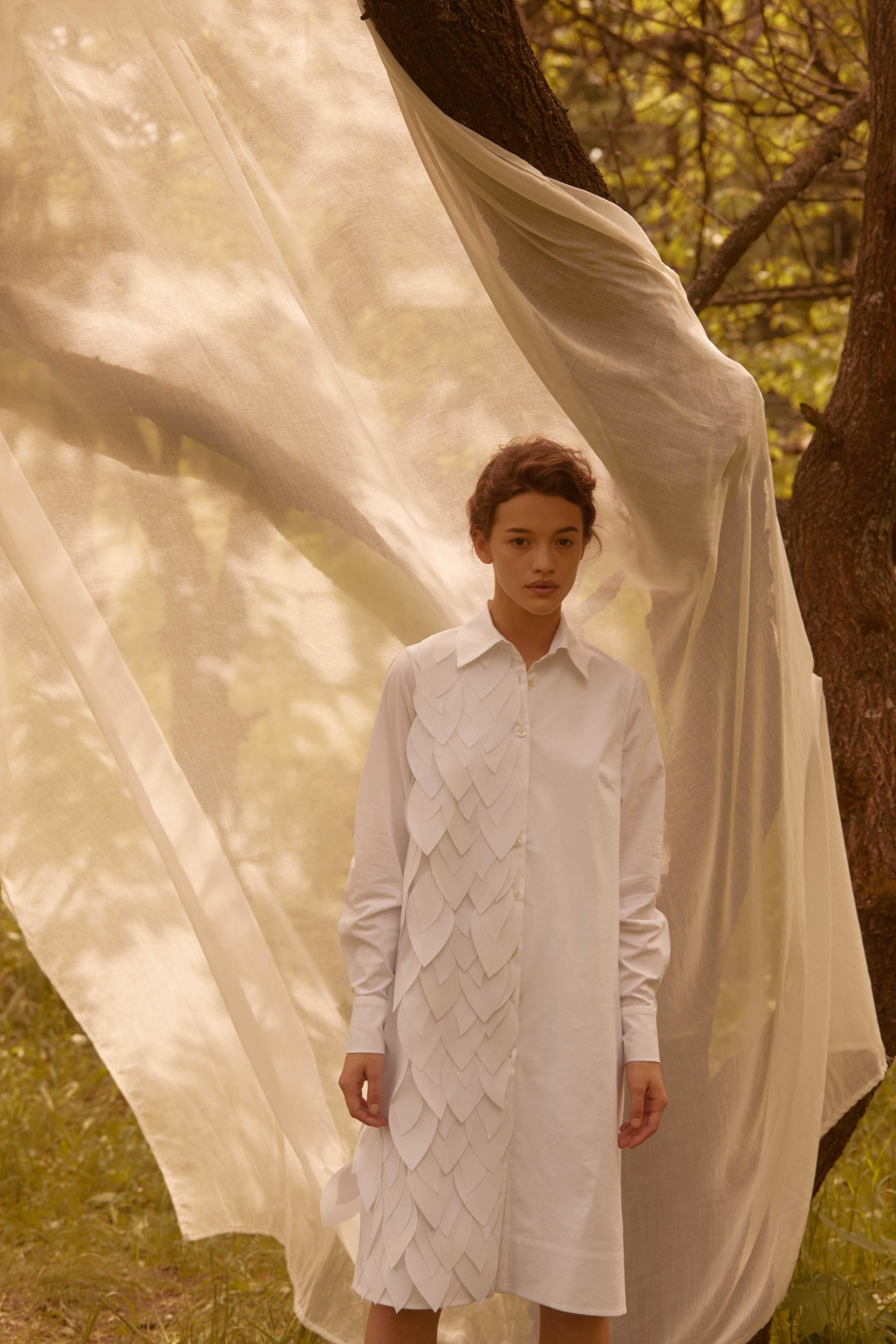 Лесная песня, лилия и образ Мавки в новой коллекции - Total White x SHUSHAN 3
