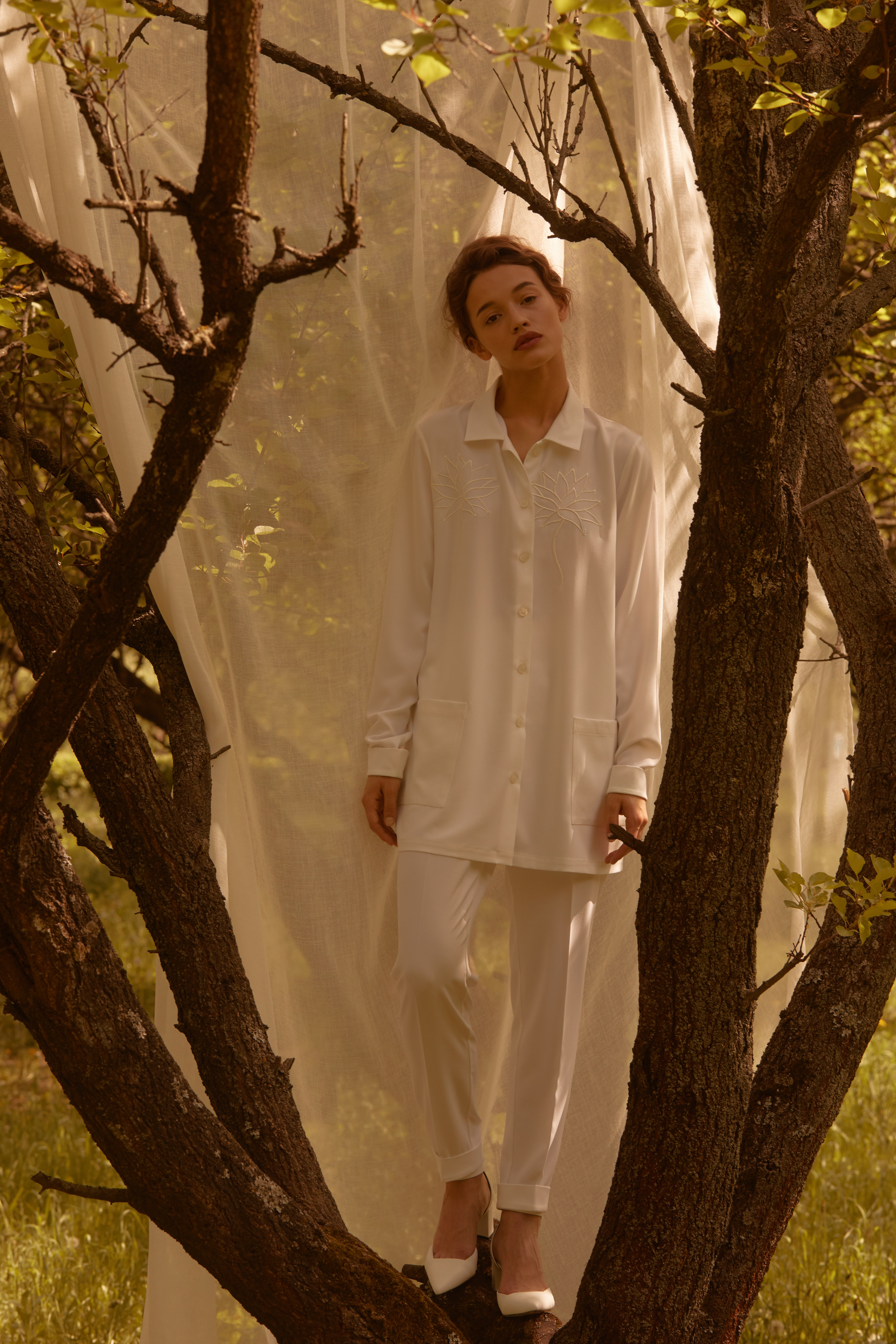 Лесная песня, лилия и образ Мавки в новой коллекции - Total White x SHUSHAN 4